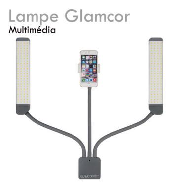 Lampe GLAMCOR MULTIMEDIA pour extension de cils double lampe aucune ombre adaptateur smartphone