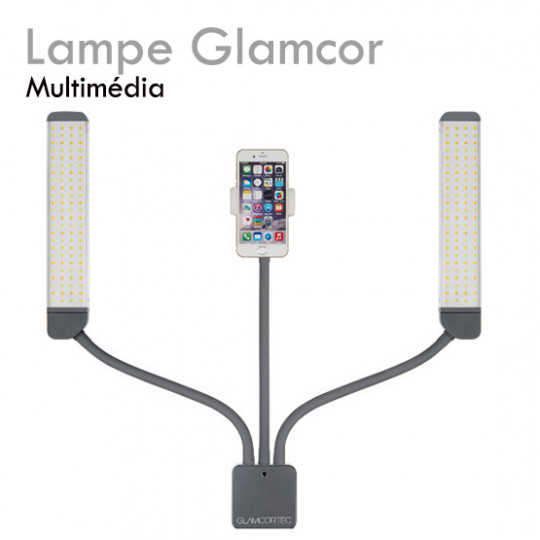 GLAMCOR MULTIMEDIA lamp for eyelash extension double lamp no shadow adapter smartphone