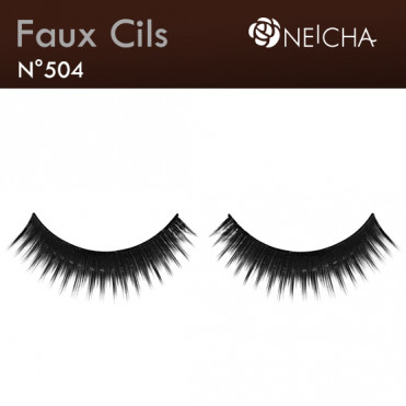 "Faux Cils Neicha Frange ""Blackest"" (504)"