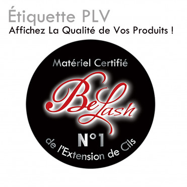 Etiquette PLV autocollante extension de cils sticker