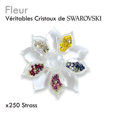 Fleur De Swarovski cristaux couleurs pour extension de cils et onglerie