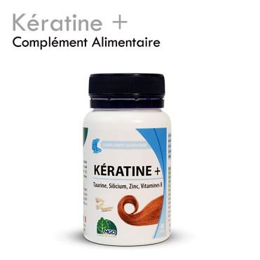 Kératine + renforce la pousse des cils cheveux et ongles