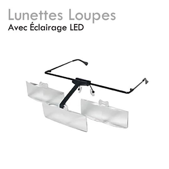 Lunettes Loupes avec éclairage LED pour extension de cils