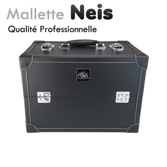 """Mallette """"Neis"""" noire aluminium extension de cils manucure onglerie déplacement domicile"""