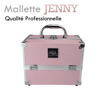 """Mallette Rose""""Jenny"""" aluminium extension de cils manucure onglerie soins à domicile"""
