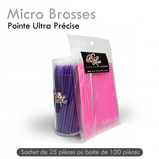 MicroBrosses pose extension de cils