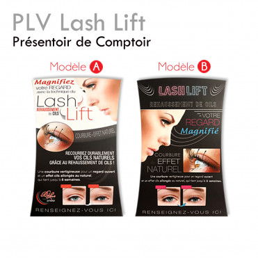 Lash Lift Point-of-Sale Advertisement