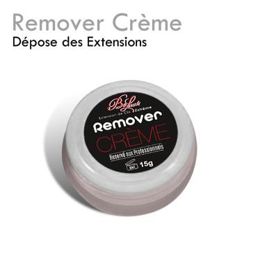 Remover Crème dépose extension de cils yeux sensibles facile rapide décoller dissoudre la colle