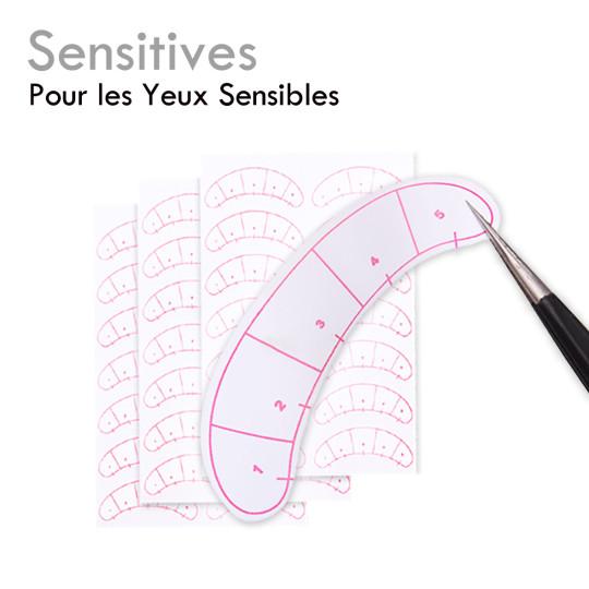 """Les """"Sensitives"""" maintient les cils inférieurs extension de cils"""