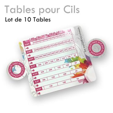 Tables pour cils plan de travail extension de cils