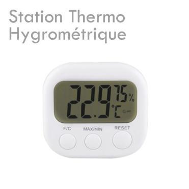 Station Thermo-Hygrométrique mesurer maîtriser température humidité colle