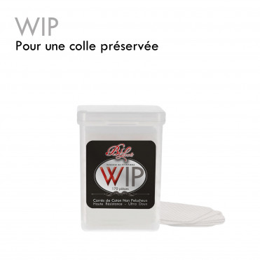 W.I.P. wipes wipe the glue neck eyelash extensions glue clean the bottle preserve
