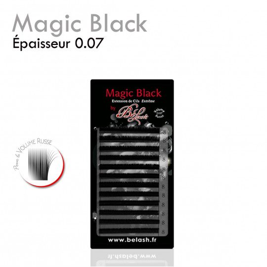Magic Black 0.07 extensions de cils palette Volume russe