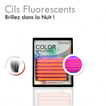 Mini Fluo 0.07 eyelash extension russian volume fluorescent color