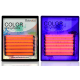 Mini Fluo 0.07 extension de cils volume russe couleur fluorescent