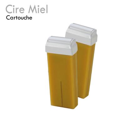 Cartouche de Cire Miel pour roll on épilation professionnelle avec bande hypoallergénique