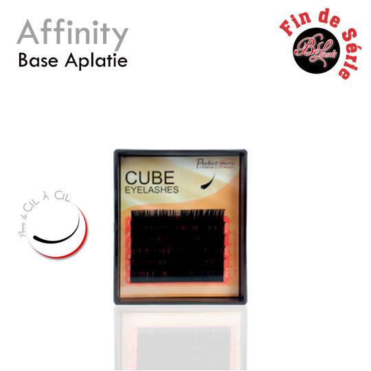 Affinity lashes cube eyelash extensions flat base