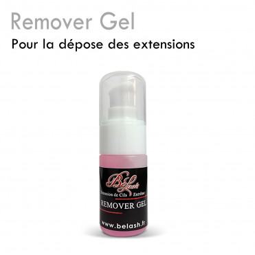 Remover gel for eyelash extensions removal