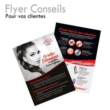 Fiche Conseils Cliente extensions longue tenue soins quotidiens maquillage