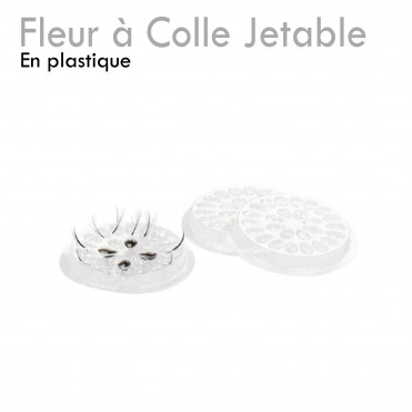 Fleur à Colle Jetable extension de cils plastique base autocollante