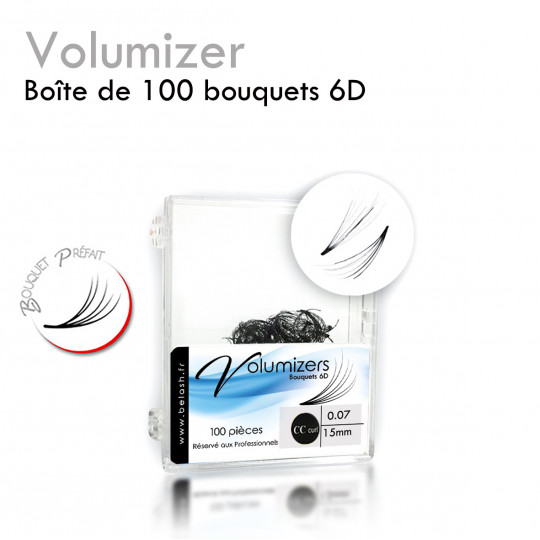 Cils Volume 6D Extension de Cil Volume Russe Bouquet Préfait Volumizer