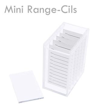 Mini Range Cils acrylique anti poussière pratique petit extension de cils bandes