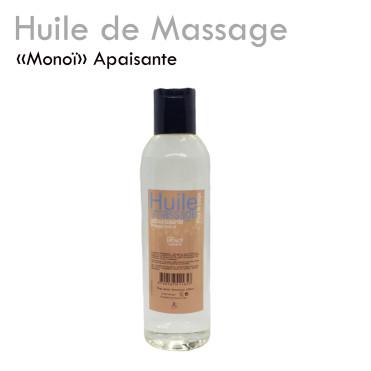 """Huile apaisante """"Monoï"""" massage relaxante fondante détente délicate"""