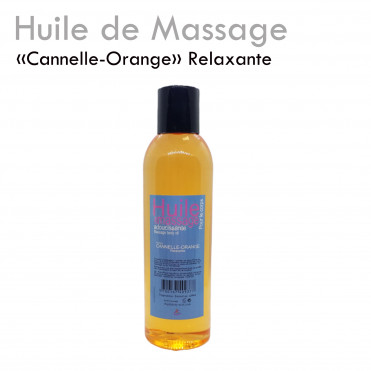"Huile Relaxante ""Cannelle Orange"" massage apaisante détente détente"