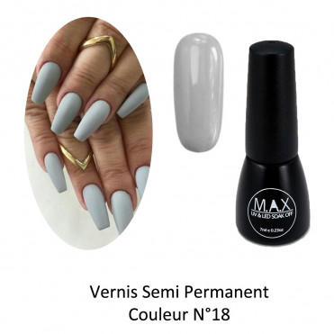 Vernis Semi Permanent - Ash Grey (18)