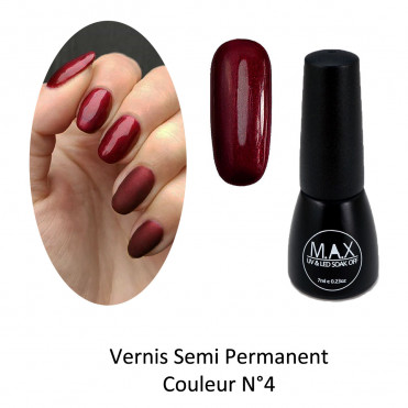 Vernis Semi Permanent - Burgundy (04)