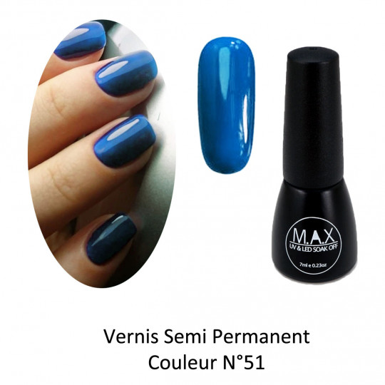 Vernis Semi Permanent - Dark Blue (51)