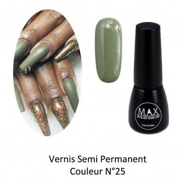 Vernis Semi Permanent - Dark Olive Green (25)