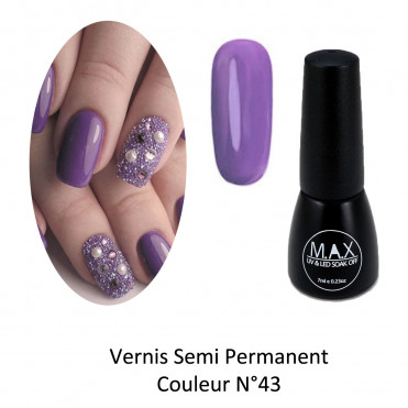 Vernis Semi Permanent - Dark Orchid (43)
