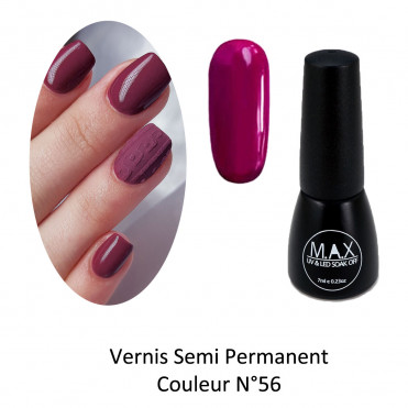 Vernis Semi Permanent - Fushia Red (56)