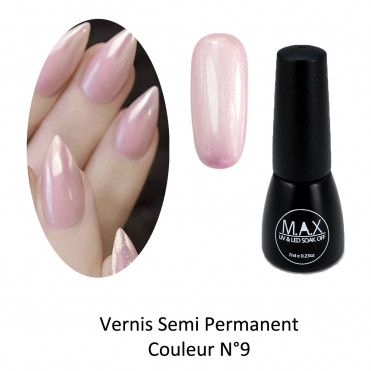 Vernis Semi Permanent - Metallic Pink (09)
