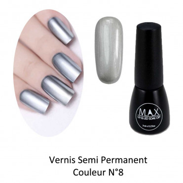 Vernis Semi Permanent - Metallic Silver (08)
