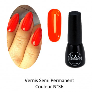 Vernis Semi Permanent - Neon Orange (36)