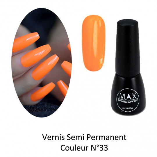 Vernis Semi Permanent - Orange (33)