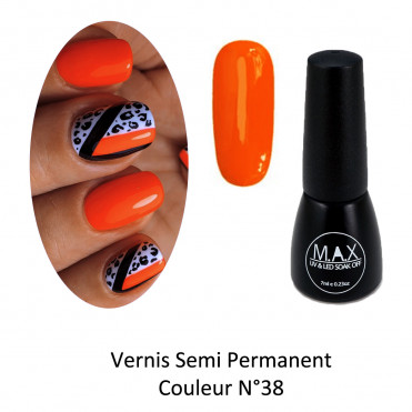 Vernis Semi Permanent - Orange Intense (38)
