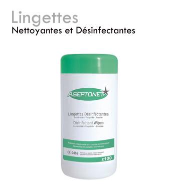 Lingettes Nettoyantes et Désinfectantes fongicide propreté hygiène parfaite