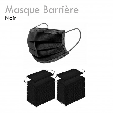 Masque de Protection noir confortable respirant filtrant