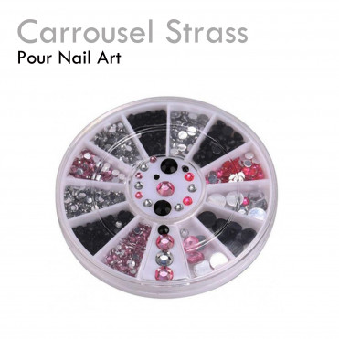 Carrousel strass onglerie Nail art décoration