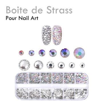 Boite de Strass nail art onglerie décoration raffiné facile