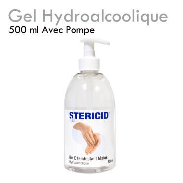 Gel Hydroalcoolique désinfection mains hygiène bactéricide virucide