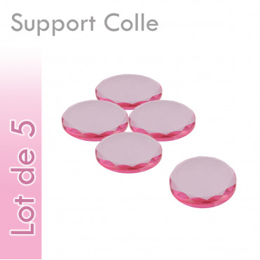 Supports Colle verre rond lot 5 pas cher grossiste revendeur