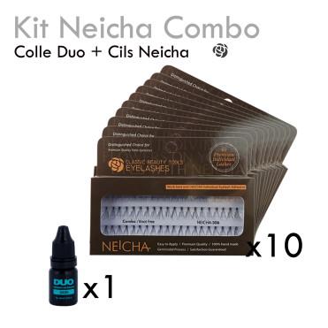 Kit Combo Neicha pumping lash faux cils individuels bouquets colle transparente rapide complet