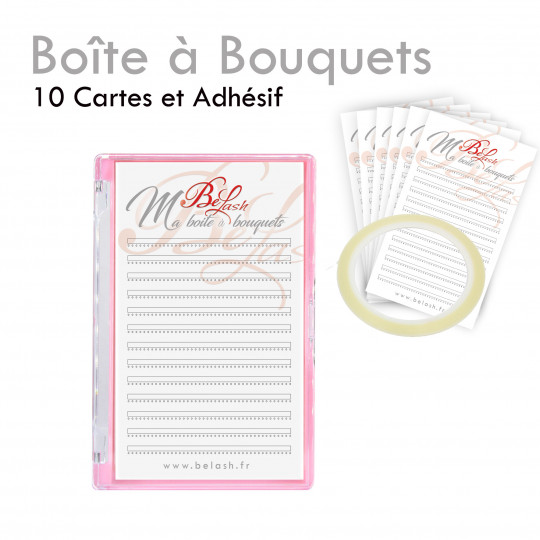 Boite à Bouquets cils extensions volume russe préfaits faits mains préparation pratique