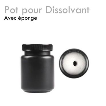 Pot pour Dissolvant éponge remover vernis semi permanent gel ov soak off pratique facile douceur pas cher