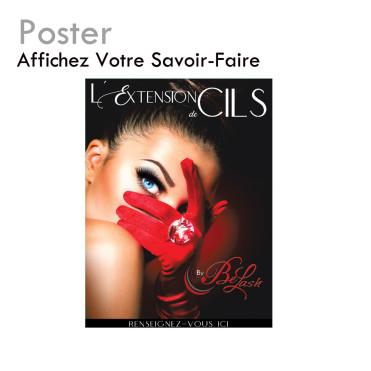 Affiche extension de cils - Poster - Matériel professionnel - Publicité - Fournisseur haute qualité